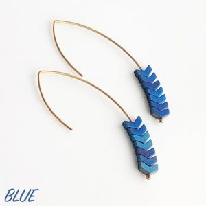 "Jewelry - NEW ""Merida"" Stone Earrings (blue)"